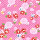 朝顔 小紋 リップルプリント ピンク 【1M単位】