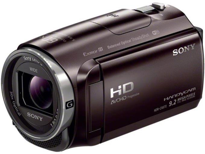 【代引き手数料無料】SONY ビデオカメラ HDR-CX670 (T) [ボルドーブラウン]