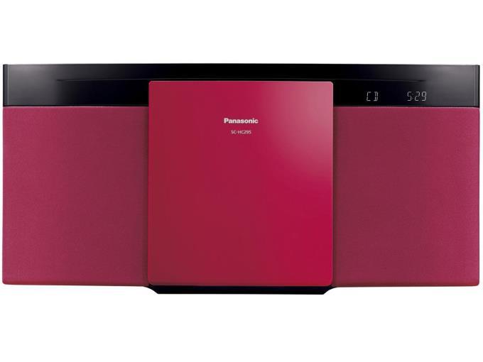Panasonic コンポ SC-HC295-R [レッド]