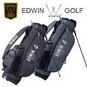 即納★値下 エドウィンゴルフ スタンド式 軽量 キャディバッグ EDWIN-037S 9型 3.0kg