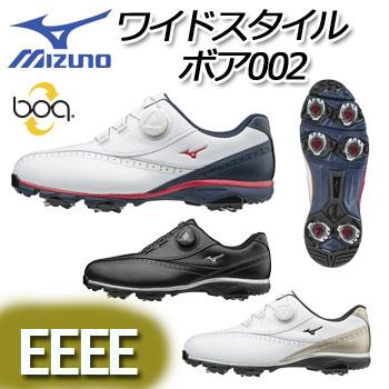 [NEW][幅広EEEE] ミズノ ワイドスタイル002ボア ゴルフシューズ 51GQ1740 WIDE STYLE 002 BOA MIZUNO ゴルフ