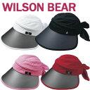 即納★ 2020/NEW ウィルソン ベア レディース 3-WAY CAP バイザー WBC2033L(148306) ゴルフ ツバ広バイザー レディース (WILSON BEAR ウイルソンベア)【セール価格】