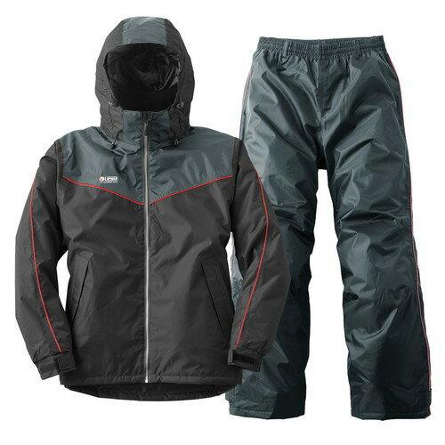 (LOGOS)ロゴス防水防寒スーツオーウェン(ブラック)LL|lipnerリプナーメンズカッパ上下セ