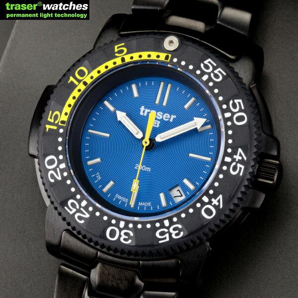 送料無料 / TRASER トレーサー NAUTIC Steel P6504.33C.6E.03 2年間のメーカー保証付き フレッシュなブルー文字盤が映えるダイバーズ・ウォッチ イエローのアクセントがポイント / WIP / 10P03Sep16 TRASER トレーサー 腕時計 ミリタリーウォッチ メーカー保証 P6504.33C.6E.03 ミリタリーショップ メンズ 【WIP03】 [Cx] [Sx]