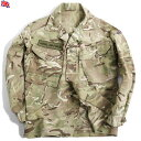 実物 イギリス軍TROPICAL COMBAT ジャケット MTP (Multi Terrain Pattern) USED 薄手な生地なので真冬以外の3シーズン着用可能 イギリス軍独自のMTPパターン【WIP03】【中古】