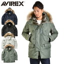 【予約販売】AVIREX アビレックス N-3B COMMERCIAL REAL FUR コマーシャル リアルファー N-3B フライトジャケット 6152145 メンズ ミリ..