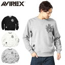 AVIREX アビレックス 6153569 FLEECE LINING スウェットシャツ【WIP03】