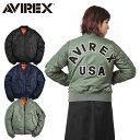 AVIREX アビレックス 6262078 レディース COMMERCIAL LOGO MA-1フライトジャケット《WIP03》レディース アウター ミリタリー ブルゾン ..