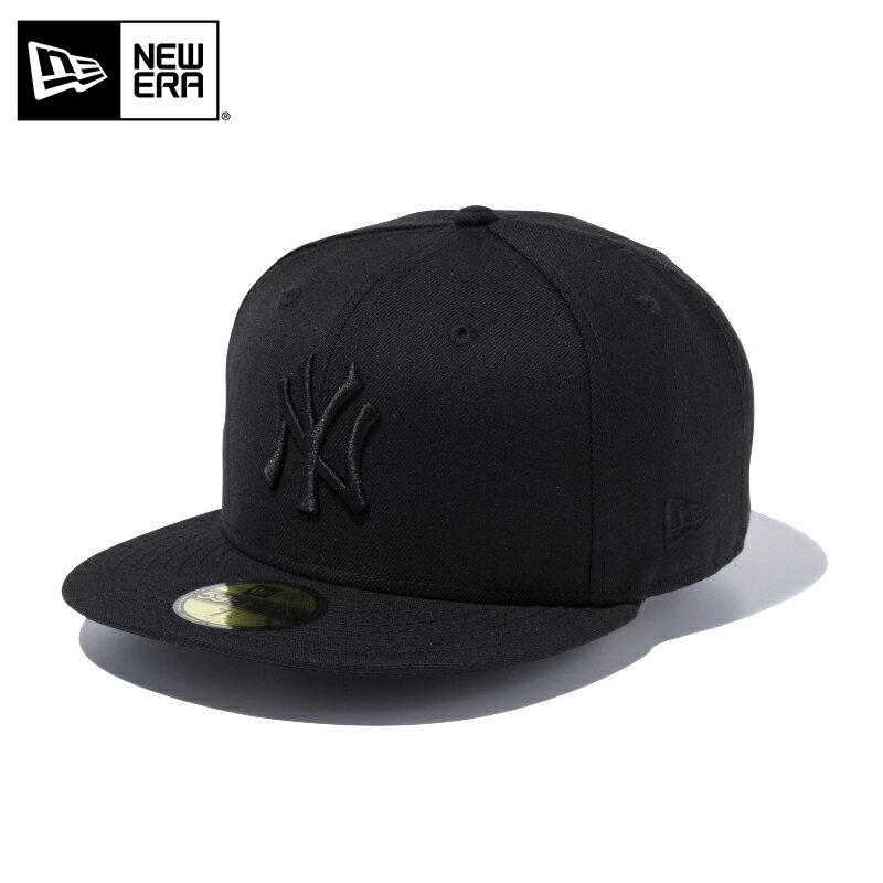【店内15%OFFセール開催中】【メーカー取次】 NEW ERA ニューエラ 59FIFTY MLB ニューヨーク・ヤンキース ブラックXブラック 11308579 キャップ