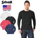 Schott ショット 3153067 ハニカム ワッフル ロングスリーブ Tシャツ MADE IN USA(クーポン対象外)