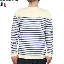 新品 フランス海軍 ボーダーセーター ホワイト×ブルー セーターに素材を変更したミリタリー復刻シリーズ 細身の作りでフランス軍ならでわのお洒落なデザイン【WIP03】