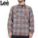 【アウトレットアイテム】【クーポン対象外】【WIP03】Lee リー L/S ツイル ワークシャツ BLUE 【19740-142】ウォッシュ加工が目を惹くツイルワークシャツヴィンテージディティール満載の逸品