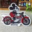 ディズニーワッペン/オートバイ Mickey/タテ66mmxヨコ90mm 送料無料