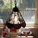 ショッピングドロッセル ペンダントライト 【Dorossel・ドロッセル】 LED対応 水玉 クラシック ステンドグラス ランプ