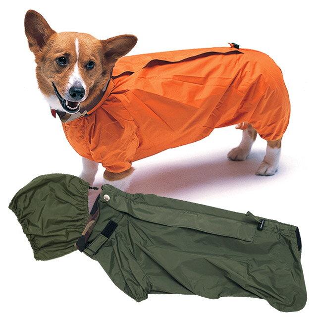 ◎サイズ交換・返品・送料無料 犬と生活W.コーギーレインコート Lコーギーの体型を考慮したレインコート!同素材のスヌード付き【犬用カッパ アウトドア 外出 散歩 撥水 つなぎ 帽子 スヌード ノミ・ダニ予防 泥ハネ 傘 犬用品 カワイイ オシャレ いぬ】 雨を強力に防ぎ、しかも蒸れることがありません。背丈の長さ調節もできます。