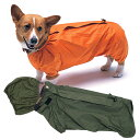 ショッピングレインコート メーカー希望小売価格より30%OFFW.コーギーレインコート Sサイズ交換・返品・送料無料 犬と生活コーギーの体型を考慮したレインコート!同素材のスヌード付き