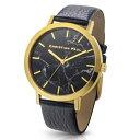 [クリスチャンポール]Christian Paul 腕時計 MBG4301 ユニセックス 大理石柄 ブラックマーブル ゴールド ブラック 時計 ウオッチ メンズ ディース 並行輸入品