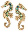 ベッツィージョンソン Betsey Johnson ピアスGold-Tone Crystal Enhanced Sea Horse Stud Earrings(シーホース)タツノオトシゴ