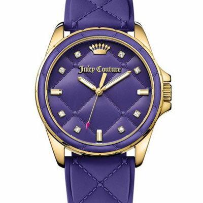 ジューシークチュール JUICY COUTURE 腕時計MALIBU, 40mm(Purple) マリブ キルトシリコン腕時計(パープル) 新作腕時計 レディースアクセサリー 正規品 日本未入荷 アメリカ買付 USA直輸入 【ジューシークチュール】新作 レディース 腕時計アメリカ在住スタッフ直接仕入れ、本物保証!防音