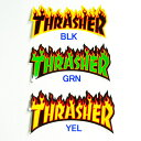 THRASHER (スラッシャー) FLAME LOGO STICKER(LARGE) ステッカー (05P04oct10)