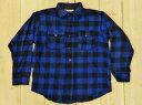 ショッピングネルシャツ 美品 古着 60S バッファロープレイド ウールネルシャツ 青×黒 SOO WOOLENS MADE IN USA