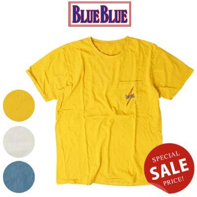 BLUE BLUE(ブルーブルー) × LIGHTNING BOLT(ライトニングボルト) ポケットTシャツ