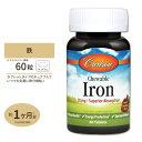 チュワブル 鉄 30mg 60粒 タブレット Carlson Labs(カールソンラボ)ミネラル/鉄/女性/プレママ/健康/栄養補助/チュワブル