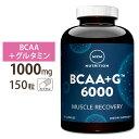 BCAA+G 6000 アルティメットリカバリフォーミュラ 150カプセル MRM(エムアールエム)筋肉 プロテイン 回復 アミノ酸