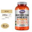 BCAA 240粒 NOW Foods(ナウフーズ) 送料無料【ポイント2倍★11/24 18:00 - 12/4 13:59】