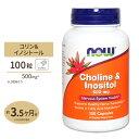 コリン&イノシトール 500mg 100粒 NOW NOW Foods(ナウフーズ)
