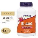 E-400 混合トコフェロール配合 250粒 ソフトジェル NOW Foods(ナウフーズ)抗酸化作用/動脈硬化/フリーラジカル/酸化/栄養補給