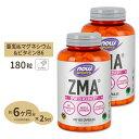2個セット ZMA(亜鉛&マグネシウム&B6) 180粒 NOW Foods(ナウフーズ)