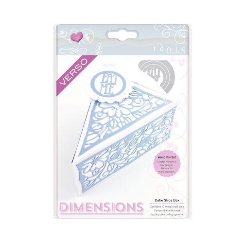 1650E /Tonic Studios/トニック・スタジオ/ダイ(抜型)/DIMENSIONS CAKE SLICE BOX DIE SET ショートケーキ ギフトボックス