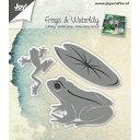 6002-0670/ジョイ クラフツ/ダイ(抜型)/Frogs & Waterlily 蛙 カエル 睡蓮 スイレン