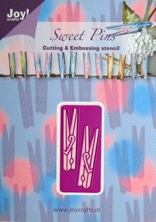 6002-0204/Joy! Crafts/ジョイ・クラフツ/ダイ(抜型)/Sweet Pins 洗濯ばさみ