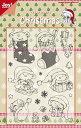 【6410-0121】Joy! Crafts/ジョイ・クラフツ/Clear Stamps/クリアスタンプ/Christmas Fun in The Snow スクラップブッキング ダイカット ペーパー クラフト ハンドメイド カード作り アルバム作り