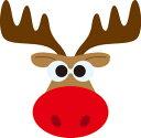 42-023/ワンダーハウス/スポンジダイ(抜型)/christmas クリスマス reindeer トナカイ