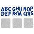 【N42-02(1-6)】WonderHouse/ワンダーハウス金型 アルファベット&数字6枚セット ダイ/スクラップブッキング/ホビークラフト/カッティングマシン
