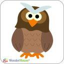 【A11-A0003-1】WonderHouse/ワンダーハウス/スポンジダイ/owl/ふくろう/フクロウ 2枚組 スクラップブッキング ダイカット ペーパー クラフト ハンドメイド カード作り アルバム作り