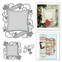 S4-525/Spellbinders/スペルバインダーズ/ダイ(抜型)/NESTABILITIES DECORATIVE ACCENTS VICTORIAN GARDEN DECORATIVE CURVED SQUARE..