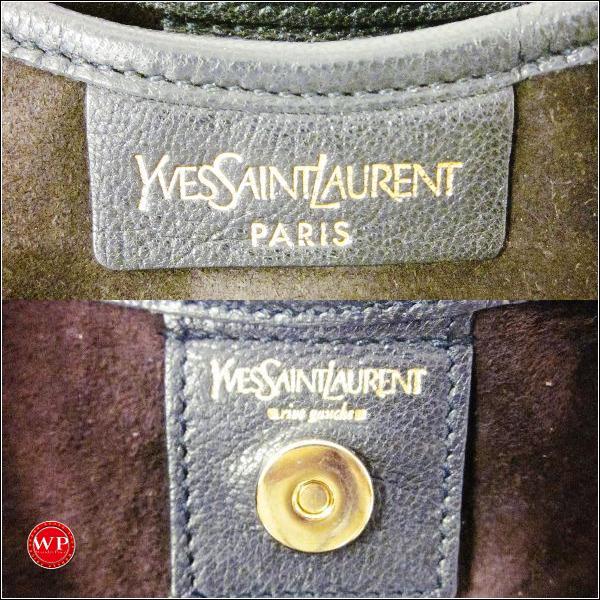 yves saint laurent ruffled leather bag