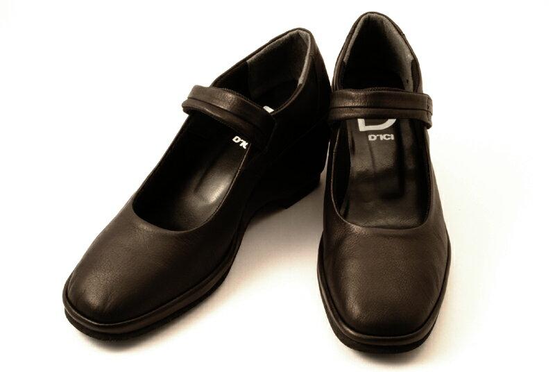 [送料無料] 日本製 Dici(ディッシィ) 超軽量 とっても履きやすいウエッジソールのストラップパンプス 53789 クロスムース【smtb,KD】 商品説明 素材 甲素材:ソフト