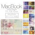 【 MacBook Pro & Air 】【メール便不可】 デザイン シェルカバー シェルケース macbook pro 13 ケース air 11 13 retina display マックブック 幾何学模様 デザイン アート クリスタル 模様 レインボー 虹 ドット ストライプ 綺麗