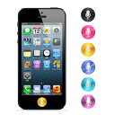 【 iPhone4 4s 5 / iPad / iPod 】URAMAN メタル マイク ALUMINIUM iPhone ホームボタンアルミニウムシール iPhone5 iPhone4 iPhone4s iPhone3G iPad4 iPad2 new iPad iPod5 第4世代iPad ボタンシールアクセサリー/ INO イノ
