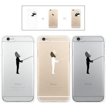iphone7 ケース iphone7 Plus ケース iphone6s ケース iphone6 Plus ケース クリアタイプ アップル ドレス 釣り 海釣り 坊主 釣りキチ ヒット 三平 クリアケース カバー ケース スマホケース リンゴマーク iPhone6s アイフォン アイフォーン プラス Apple savi00006