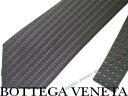 【送料無料】BOTTEGA VENETA ボッテガベネタ シルク ネクタイ ダークグレー×グリーン 389824-4V0021366 ブランド/メンズ/男性用