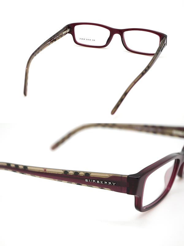 Burberry Glasses Frames Singapore : woodnet Rakuten Global Market: Glasses Burberry dark red ...