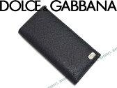 【送料無料】DOLCE&GABBANA 長財布 型押しレザー ブラック '14春夏SS 小銭入れあり ドルチェ&ガッバーナ ドルガバ BP1670-A1001-80999 ブランド/メンズ/男性用