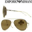 ショッピングアルマーニ EMPORIO ARMANI サングラス エンポリオアルマーニ メンズ レディース ゴールドミラー ティアドロップ EMP-EA-2073-S-3013-5A