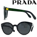 ショッピングプラダ PRADA サングラス UVカット プラダ メンズ&レディース ブラック 0PR-03US-07E5S0 ブランド